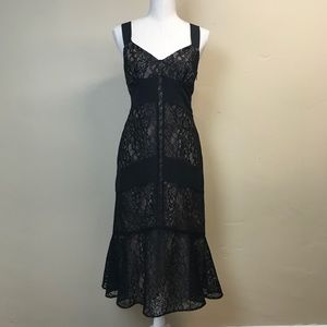 LOFT Black Lace Cocktail Dress